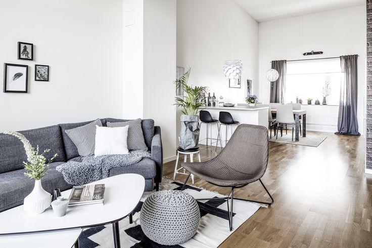 Living room at Anders Perssonsgatan 7, Gothenburg.