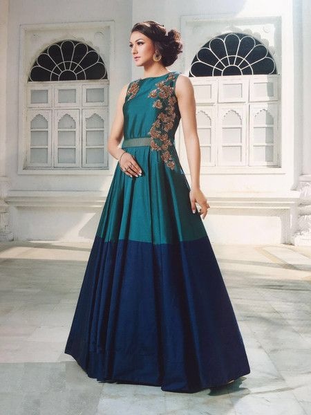 Ethical Dresses – Indian Designer gown with Dupatta Bridal Prom Dres – a unique product by INDIANTRADITIONAL on…