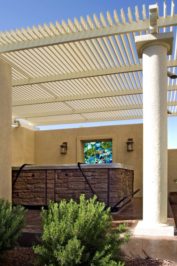 Adjustable Patio Cover Over Hot Tub For Pool Area