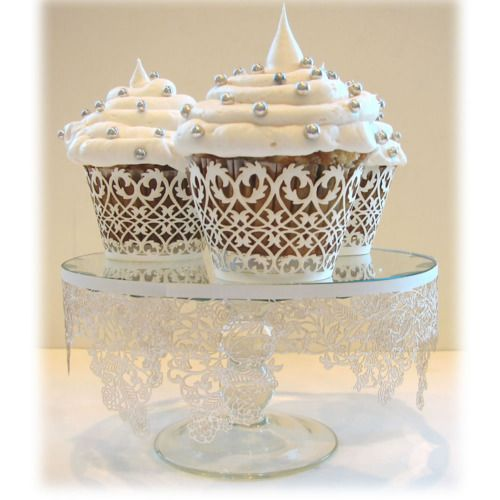 Cupcakes sofisticados: Cupcakes Ideas, Cupcakes Liner, Wedding Cups Cakes, Lace Cupcakes, Wedding Cupcakes, Cakes Plates, Cupcakes Wrappers, White Wedding Cakes, Cupcakes Rosa-Choqu