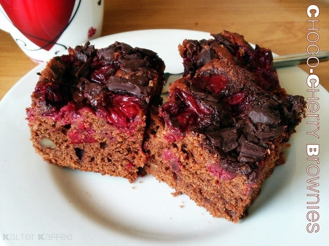 Chocolate Cherry Brownies | Sweets for my sweet | Pinterest