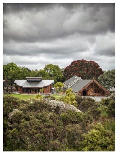 Whare Kai, Te Noho Kotahitanga Marae, Unitech, Auckland by Kay and Keys Architects. Photo Credit: Greg Kempthorne.