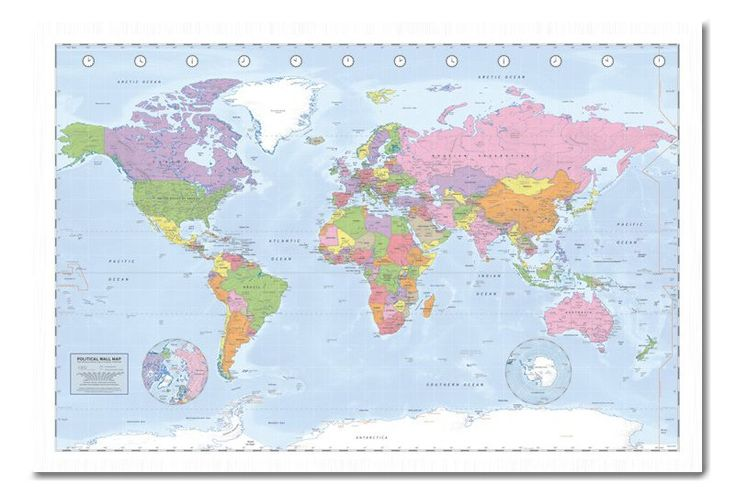 23 best travel images on pinterest travel posters world maps and political world map poster miller projection gloss laminated new sealed free uk gumiabroncs Image collections