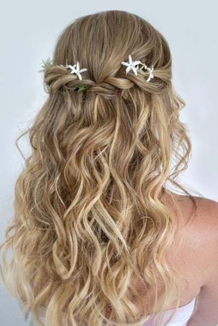 69+ Ideas Bridal Hairstyles For Long Hair Wavy Half Up