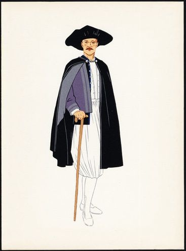 Old Costume Print-BOURG DE BATZ-BRITTANY-FRANCE-1939