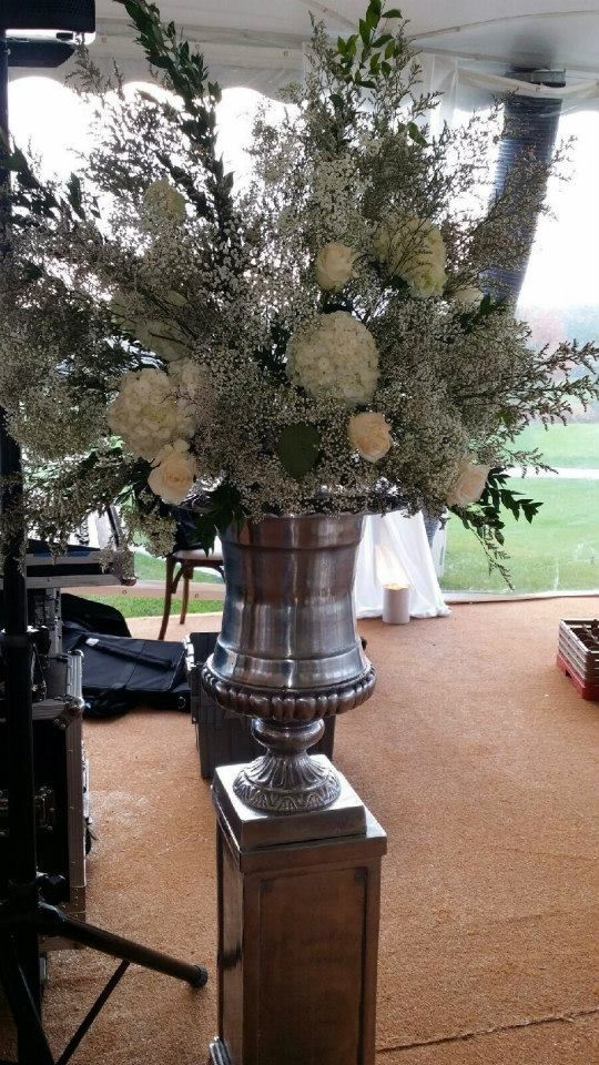 Artquest, Ltd ceremony floral design at Edgewood Valley Country Club in La Grange.   Check us out on Facebook and Instagram at artquestltd for more!