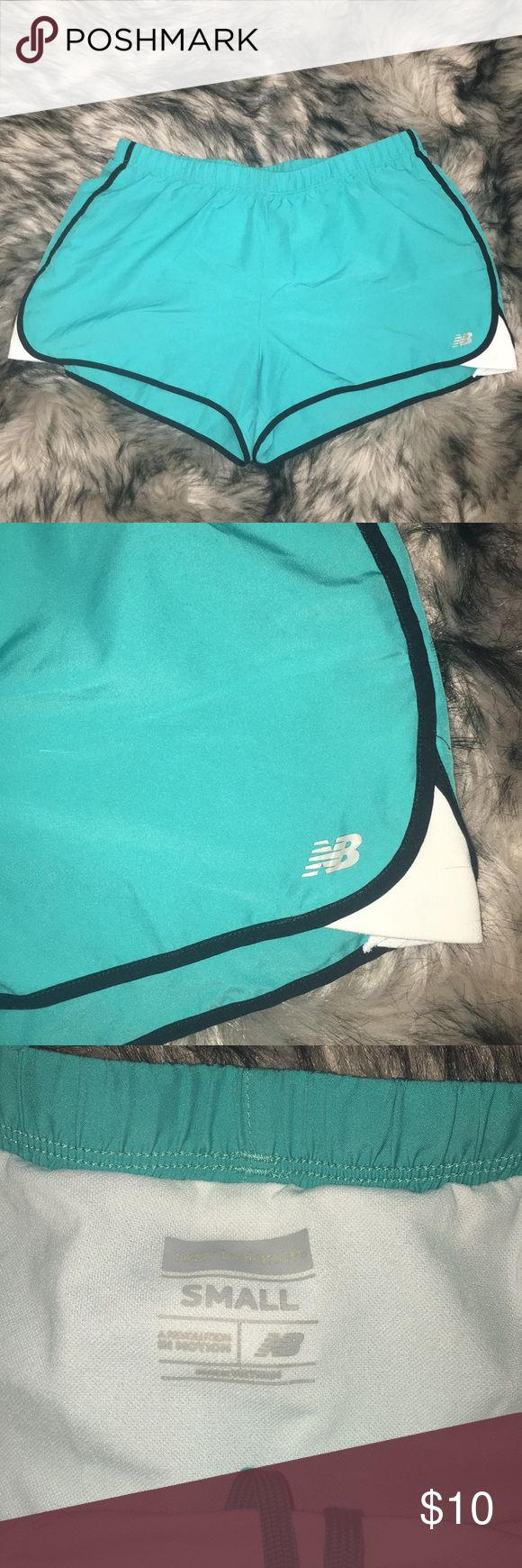 New balance work out shorts New balance teal shorts - with the underwear lining New Balance Shorts
