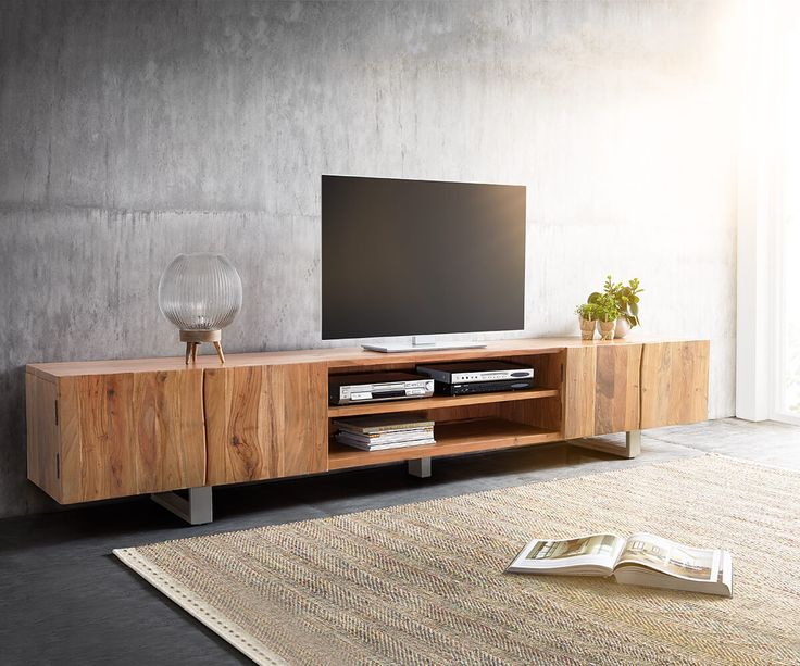 tv lowboard holz catlitterplus. Black Bedroom Furniture Sets. Home Design Ideas