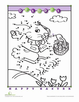 Hop, Hop Dot-to-Dot! Worksheet