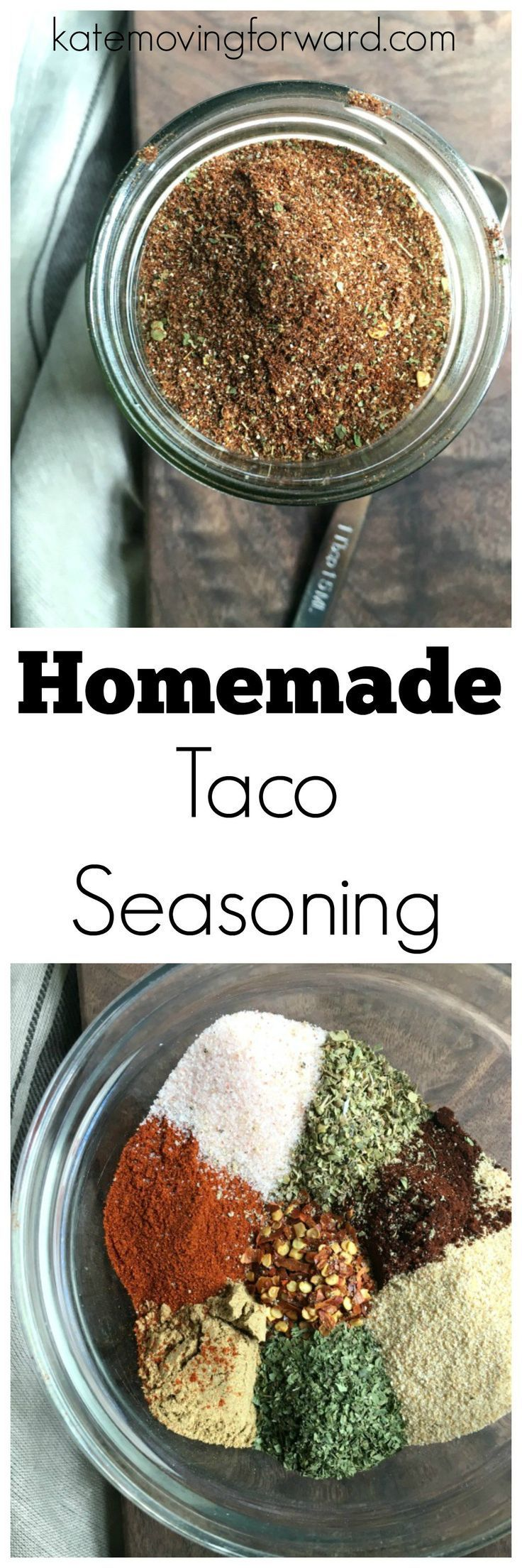 Homemade Taco Seasoning - Make your own DIY taco spice mix for tacos…  #HealthyEating #CleanEating  Sherman Financial Group