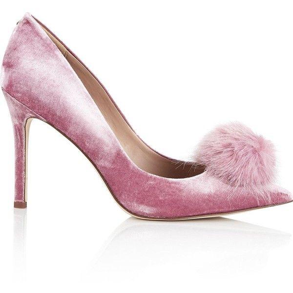 sam edelman pink velvet shoes