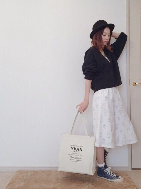 個性派ガウチョパンツはシンプルに! ♡10代のファッション スタイルの参考コーデまとめ♡