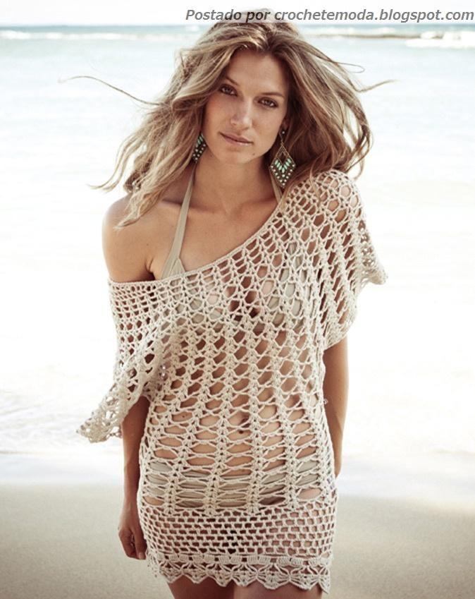 Crochetemoda: Saída de Praia de Crochet