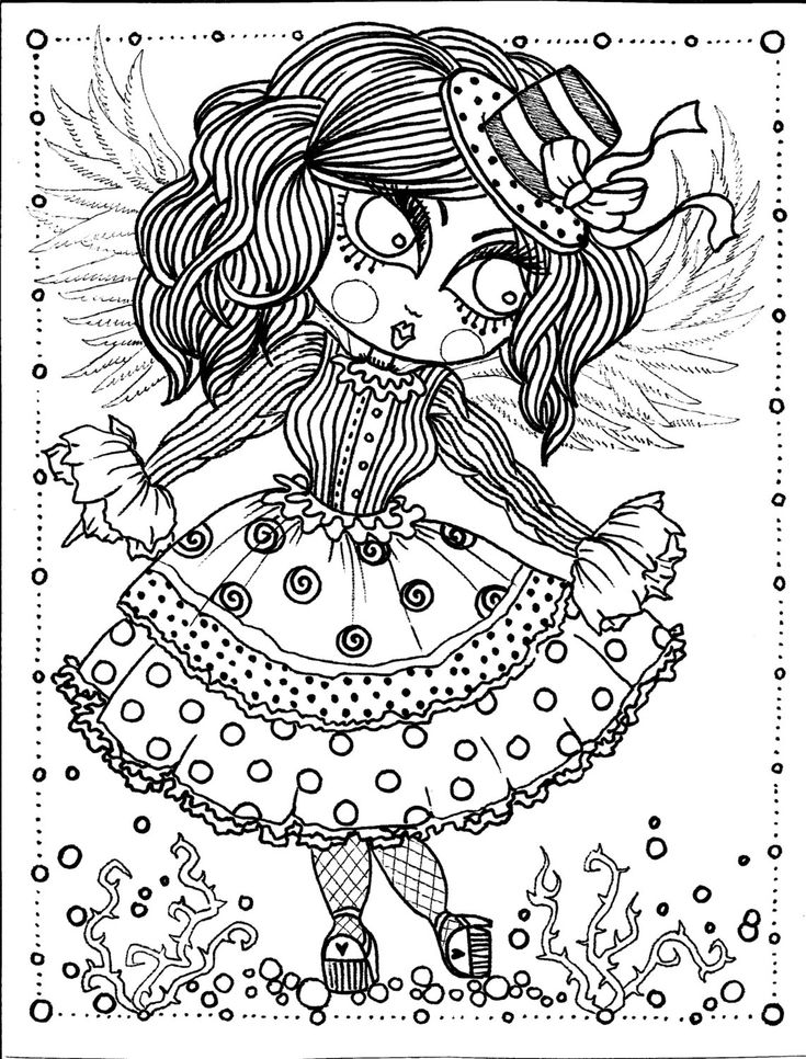 gothic art coloring pages - photo#1