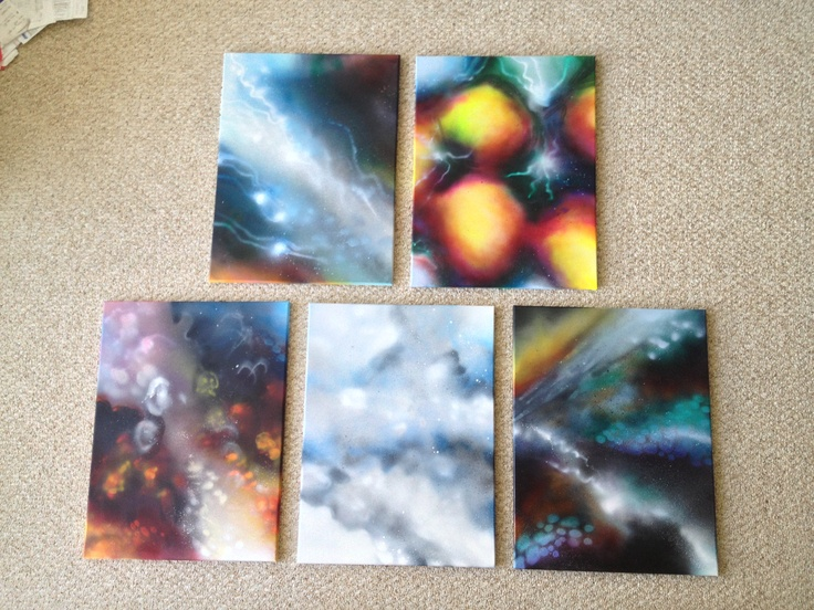 "18x24"" canvases, meditative visions"