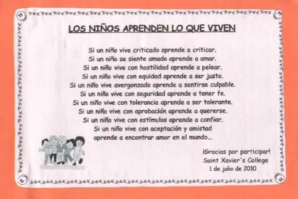 Dia del idioma actividades para chicos de primaria for Cancion adios jardin querido