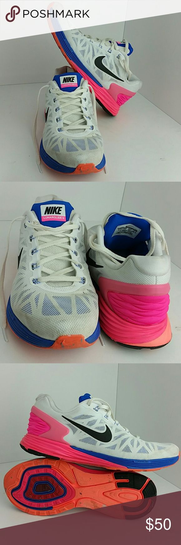 NIKE LUNARGLIDE 6 VI WOMEN SHOES VERY CLEAN INSIDE-OUT   SKE # AM NIKE Shoes Athletic Shoes