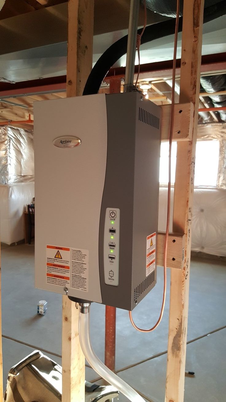 Aprilaire 800 Steam humidifier, installed in Hoffman