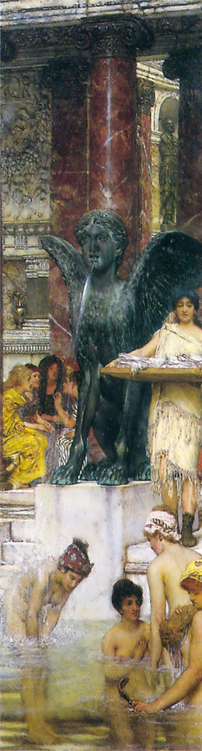 A Bath (An Antique Custom) by Sir Lawrence Alma-Tadema #art