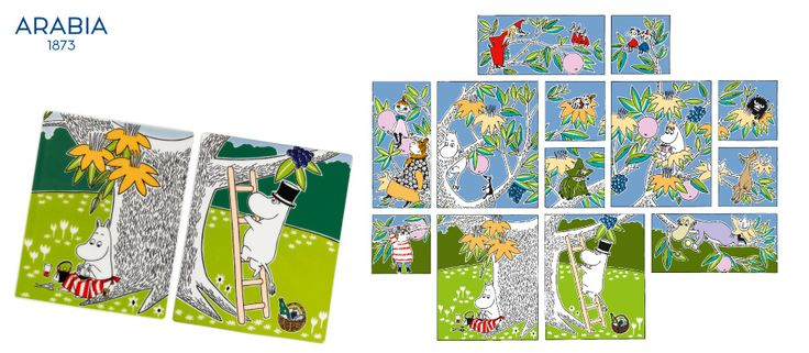 Stunning Moomin ceramic tiles. You can use separately or get the whole set and have pretty tree!