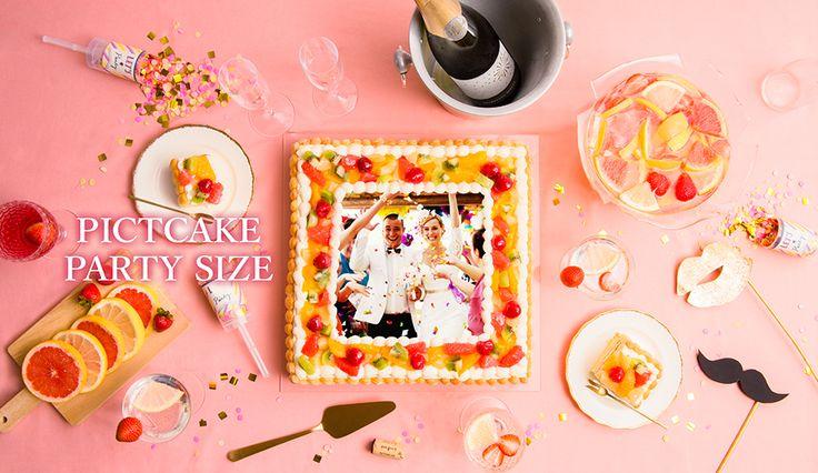 50名様以上の大型パーティーにも対応!34cm×34cm迫力の写真プリントケーキ 『ピクトケーキ』パーティーサイズを販売開始