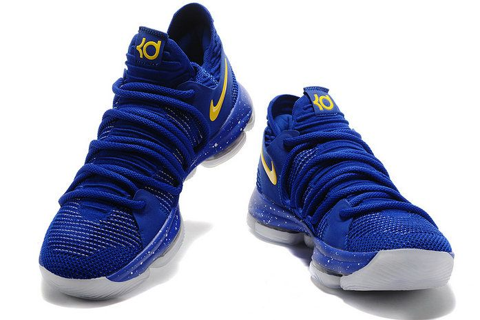 low priced de14a 600ae Cheapest And Latest Newest And Cheapest Nike Zoom KD 10 X Warriors Blue  Yellow