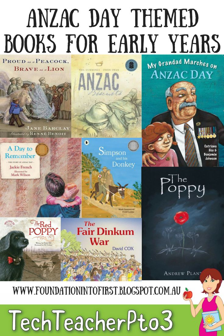 ANZAC Day themed books suitable for early years students.