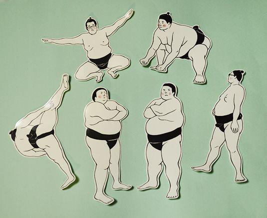 Sticker of sumo