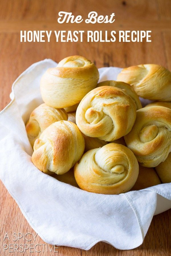 The Best Yeast Rolls Recipe - Light, airy, and kissed with honey!