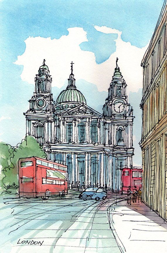 Hey, I found this really awesome Etsy listing at https://www.etsy.com/listing/102464173/london-st-pauls-cathedral-art-print-from