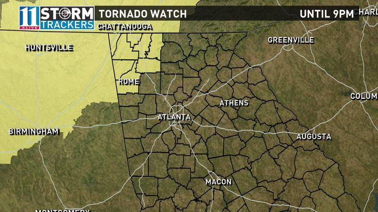 Tornado Watch issued for several Georgia counties | 11alive.com