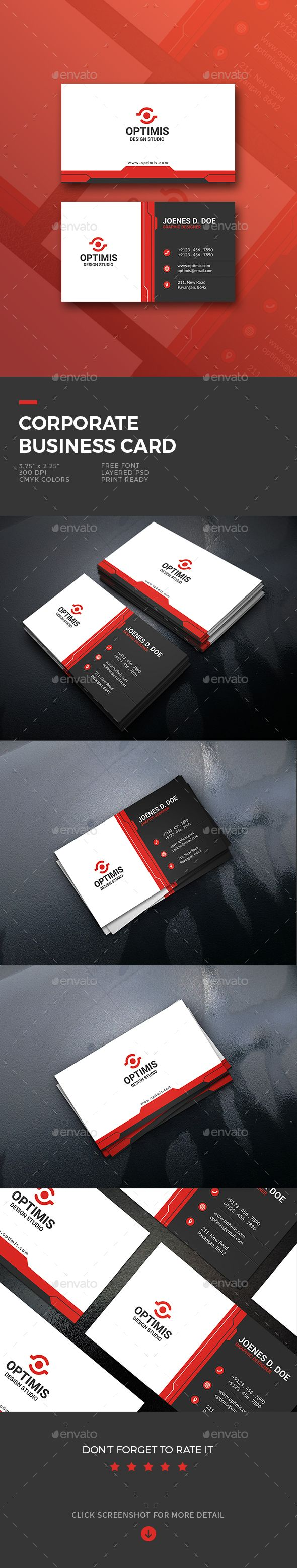 17 best business card images on pinterest business card design features 2 psd file include print size bleed size x photoshop psd front back design in 300 dpi high resolution cmyk color mode free fonts link easy to reheart Image collections
