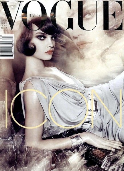Vogue Italia, April 2008. Natalia Vodianova photographed by Steven Meisel.