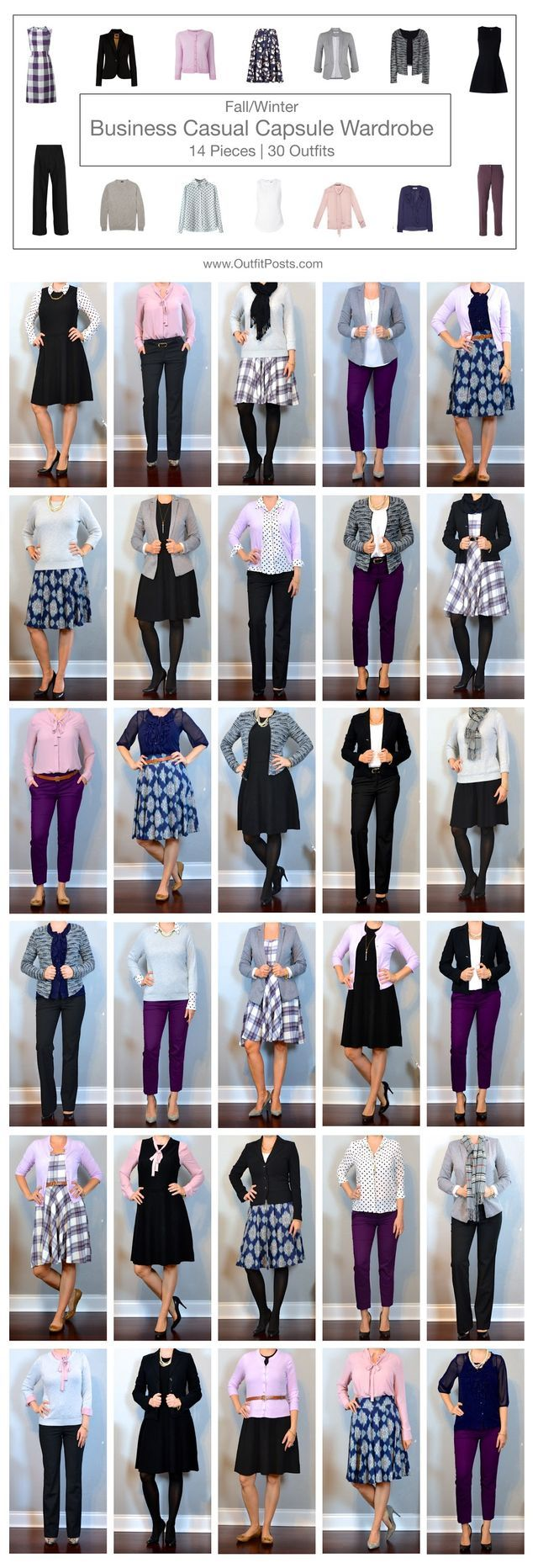"""8/8 - When I find myself starting to feel like I have tons of clothing but nothing to wear - I use a capsule wardrobe trick to help me get more creative with what I already own. My """"trick"""" is that I p"""