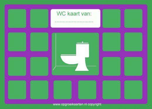 Beloningskaart zindelijkheidstraining wc 1