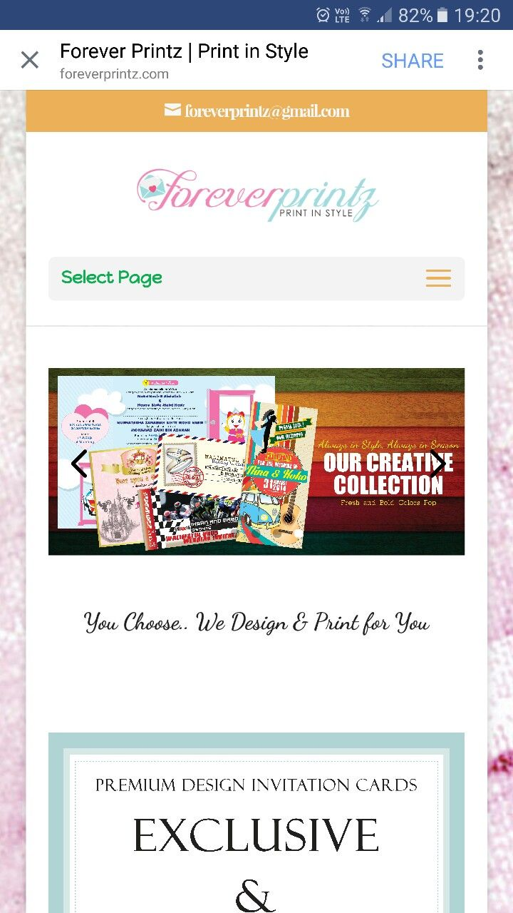 Forever Printz Singapore website Highly recommended for their prompt service