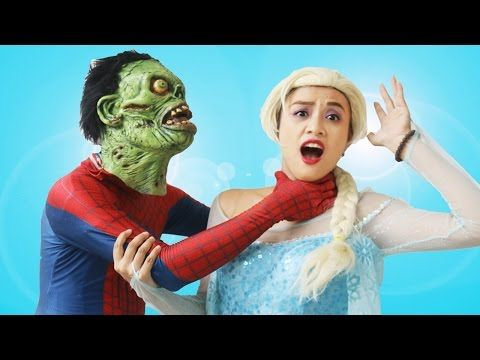 Spiderman Costume Stolen! w/ Elsa, Pink Spidergirl, Malificent & Joker In Real Life - YouTube