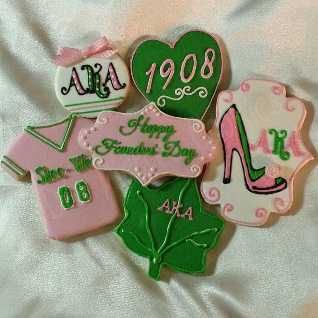 AKA Founders' Day cookies