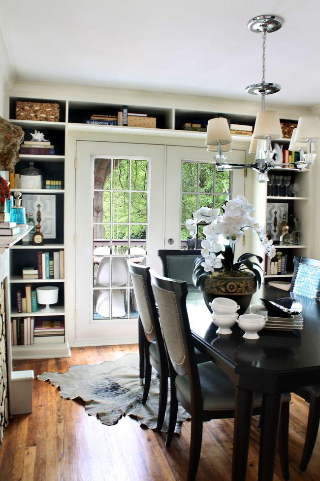 Built In Shelves Around French Doors The Hunted Interior
