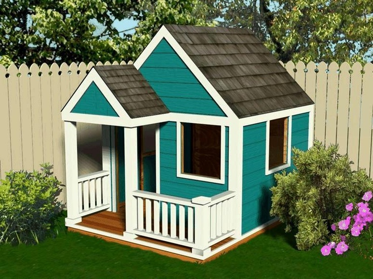Simple build wooden wendyhouse playhouse plans. I can put this on the hubby's future task list. Right?