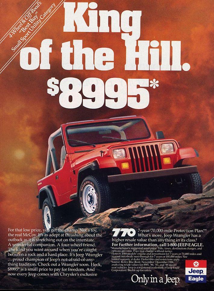 Jeep Wrangler Accessories >> Productioncars.com - Vintage Car Ads | Jeep yj, Jeep wrangler, Jeep