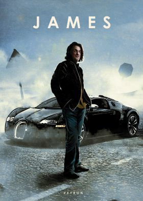 print on metal Movies & TV james may captain slow veyron top gear