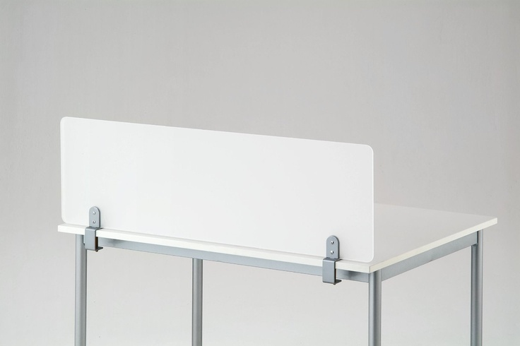 Amazon Com Desk Divider Partition Clamp On Frosted