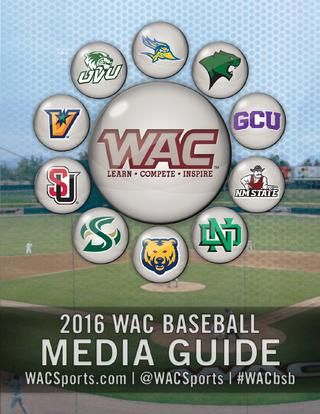 2016 WAC Baseball Media Guide by Western Athletic Conference - issuu