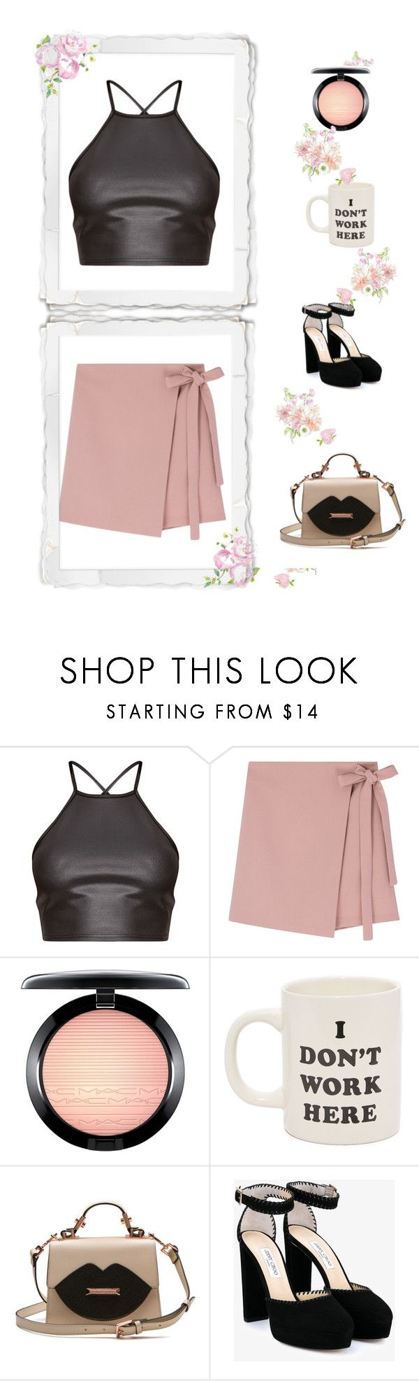 """Signo Lb"" by rebecioatto on Polyvore featuring moda, MAC Cosmetics, ban.do e Jimmy Choo"