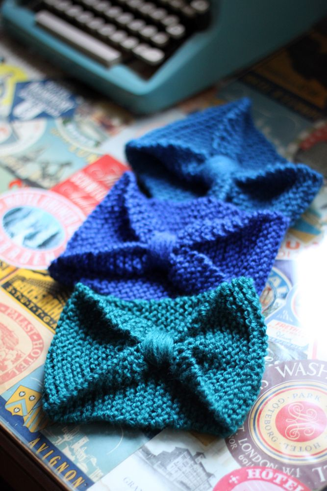 super simple knit headband
