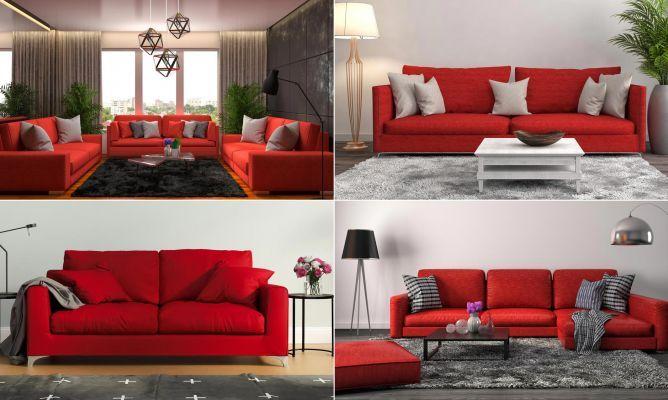 Combinar Sofa De Color Rojo Hogarmania En 2020 Decoracion Con Sofa Rojo Sofas De Colores Decoracion En Rojo