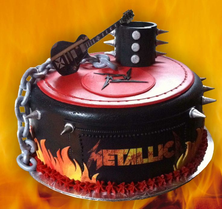 Metallica Birthday Cake.