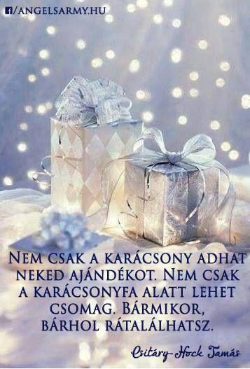 Csitáry-Hock Tamás idézet az ajándékokról. A kép forrása: Angels' Army