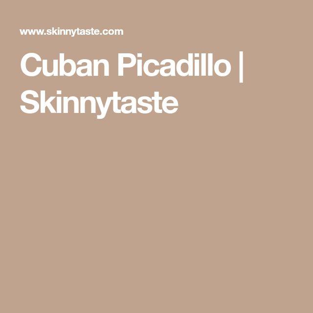 Cuban Picadillo   Skinnytaste